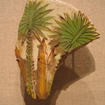 Glazed Tile with Palms