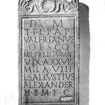 Tombstone with Ten Lines of Latin Incised Inscription