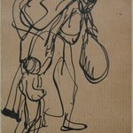 Leaves From a Serbian Sketchbook: Sketch of a Mother and Child