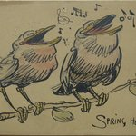 1 of a Set of 6 Postcards: Spring Has Came