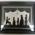 Silhouette of Family Group (5 Figures)