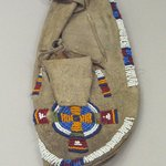 Childs Moccasin with Beaded Cross and Circle Design