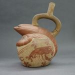 Stirrup-Spout Vessel with Lobster