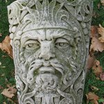 Keystone with Bearded King, one of two, from Lorsch Building, 37-39 Maiden Lane, NYC (demolished 1973)