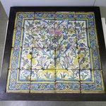 Polychrome Tile Panel in a Wooden Frame