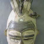 Ekpo Face Mask with Two Horns and Birds
