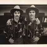 Twin Youths Wearing Hats