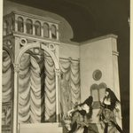 [Untitled]  (Two Ballet Dancers Facing Each Other on a Stage)