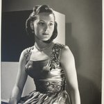 [Untitled] (Brunette Woman Looking to Right, Wearing Dress with Sequined Straps and Waist)