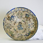 Bowl Depicting a Seated Figure Surrounded by Winged Lions and Sphinxes
