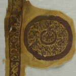 Clavus Fragment and Roundel with Animal and Botanical Decoration