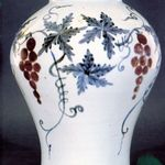 Jar with Grape Vine Decoration