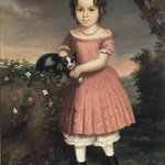 Portrait of a Child Holding a Cat