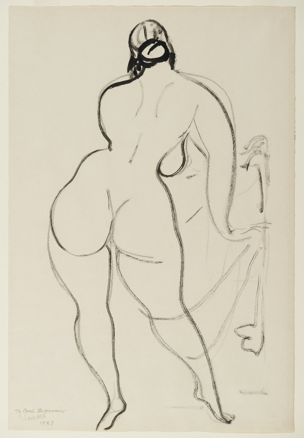 Cream nude art