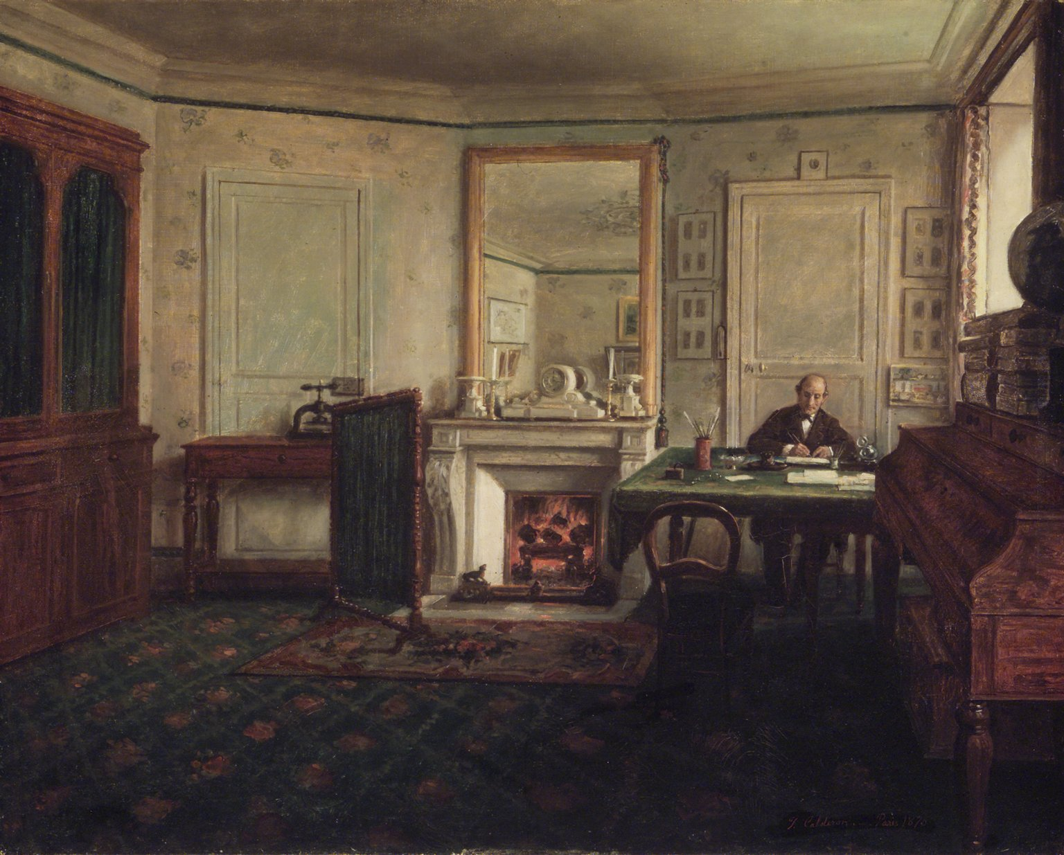 Gabinete de Don Manuel Romero de Terreros en París