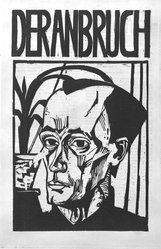 Erich Heckel (German, 1883-1970). <em>Bildnis E.H. 1919 (Cover for Der Anbruch)</em>, 1919. Reproductive woodcut, 16 1/8 x 11 in. Brooklyn Museum, Gift of Elizabeth Hamilton and Jeffrey Wortman, 1989.120. © artist or artist's estate (Photo: Brooklyn Museum, 1989.120_bw.jpg)