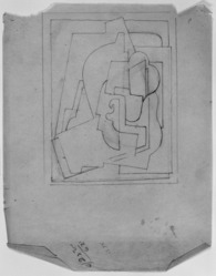 Blanche Lazzell (American, 1879-1956). <em>Untitled</em>, 1924. Graphite on thin wove paper, Sheet: 10 5/8 x 8 1/4 in. (27 x 21 cm). Brooklyn Museum, Gift of Harriette and Martin Diamond, 1989.162.3. © artist or artist's estate (Photo: Brooklyn Museum, 1989.162.3_bw_SL3.jpg)