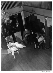 Aaron Siskind (American, 1903-1991). <em>Nightclub I</em>, ca. 1937. Gelatin silver photograph, Sheet: 14 x 10 7/8 in. Brooklyn Museum, Gift of Dr. Daryoush Houshmand, 1989.193.17. © artist or artist's estate (Photo: Brooklyn Museum, 1989.193.17_bw.jpg)