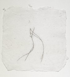 Joel Fisher (American, born 1947). <em>Apograph for Untitled (Flame)</em>, 1987. Graphite, conte, and fiber on paper, 6 3/8 x 6 3/8 in. (16.2 x 16.2 cm). Brooklyn Museum, Purchased with funds from the Contempory Arts Council and the National Endowment for the Arts Museum Purchase Plan, 1989.26.2. © artist or artist's estate (Photo: Brooklyn Museum, 1989.26.2.jpg)