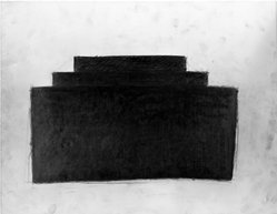 Richard Hugh Fleischer (American, born 1944). <em>Untitled</em>, 1980. Charcoal on paper, 17 1/2 x 2 1/2 in. (44.5 x 6.4 cm). Brooklyn Museum, 1989.83.2. © artist or artist's estate (Photo: Brooklyn Museum, 1989.83.2_bw.jpg)