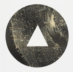 Sol LeWitt (American, 1928-2007). <em>A Circle of Manhattan Without a Triangle</em>, 1977. Photograph, 15 3/4 in. diameter. Brooklyn Museum, Gift of Estelle Schwartz, 1989.84.1. © artist or artist's estate (Photo: , 1989.84.1_PS9.jpg)