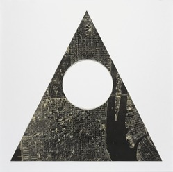 Sol LeWitt (American, 1928-2007). <em>A Triangle of Manhattan Without a Circle</em>, 1977. Cut out from photograph, 15 3/4 x 15 3/4 in. triangle. Brooklyn Museum, Gift of Estelle Schwartz, 1989.84.2. © artist or artist's estate (Photo: , 1989.84.2_PS9.jpg)