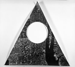 Sol LeWitt (American, 1928-2007). <em>A Triangle of Manhattan Without a Circle</em>, 1977. Cut out from photograph, 15 3/4 x 15 3/4 in. triangle. Brooklyn Museum, Gift of Estelle Schwartz, 1989.84.2. © artist or artist's estate (Photo: Brooklyn Museum, 1989.84.2_bw.jpg)