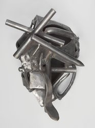 Melvin Edwards (American, born 1937). <em>Takawira - J</em>, 1989. Welded steel, 14 x 10 x 9 in. Brooklyn Museum, Gift of Edward A. Bragaline, by exchange, 1990.104. © artist or artist's estate (Photo: , 1990.104_edited_PS9.jpg)