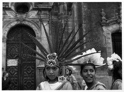 Mariana Yampolsky (Urbach). <em>Girl Dancers - Zocalo</em>, ca. 1980s. Gelatin silver photograph Brooklyn Museum, Gift of Marcuse Pfeifer, 1990.119.96. © artist or artist's estate (Photo: Brooklyn Museum, 1990.119.96_bw.jpg)