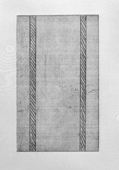 Günther Förg (German, 1952 - 2013). <em>[Untitled]</em>, 1989. Etching, aquatint and drypoint, Sheet (folio): 14 5/8 x 12 3/4 in. (37.1 x 32.4 cm). Brooklyn Museum, Helen Babbott Sanders Fund and John W. James Fund, 1990.123.11. © artist or artist's estate (Photo: Brooklyn Museum, 1990.123.11_bw.jpg)