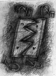 Elizabeth Murray (American, 1940-2007). <em>Untitled</em>, 1990. Graphite on paper, 9 3/4 x 7 5/8 in. (24.8 x 19.4 cm). Brooklyn Museum, Alfred T. White Fund, 1990.215. © artist or artist's estate (Photo: Brooklyn Museum, 1990.215_bw.jpg)
