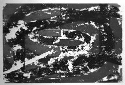 David Row. <em>Untitled</em>, 1988. Monotype on paper, sheet: 42 x 30 1/4 in. (106.7 x 76.8 cm). Brooklyn Museum, Gift of Garner Tullis and Pamela Auchincloss, 1990.47. © artist or artist's estate (Photo: Brooklyn Museum, 1990.47_bw.jpg)