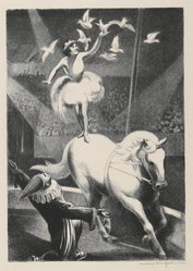 Mabel Dwight (American, 1876-1955). <em>The Circus</em>, 1930. Lithograph on wove paper, Sheet: 17 1/8 x 13 11/16 in. (43.5 x 34.7 cm). Brooklyn Museum, Gift of Gertrude W. Dennis, 1991.153.13. © artist or artist's estate (Photo: Brooklyn Museum, 1991.153.13_PS6.jpg)