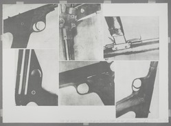 Vito Acconci (American, 1940-2017). <em>Bite the Bullet; Slow Guns for Quick Sale...</em>, 1977. Photo-etching on paper, 29 3/4 x 41 3/4in. (75.6 x 106cm). Brooklyn Museum, Gift of Nancy Genn, 1991.215.2. © artist or artist's estate (Photo: , 1991.215.2_PS9.jpg)