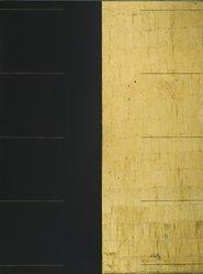 Gordon Hart (American, born 1940). <em>Darklite</em>, 1974. Oil and goldleaf on nova plywood, 48 x 36 in. (121.9 x 91.4 cm). Brooklyn Museum, Gift of Paul F. Walter, 1991.281. © artist or artist's estate (Photo: Brooklyn Museum, 1991.281_PS2.jpg)