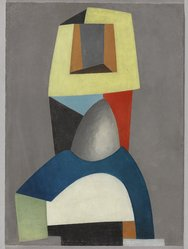 Jean Hélion (French, 1904-1987). <em>Composition</em>, 1939. Oil on masonite, 15 x 11 in.  (38.1 x 27.9 cm). Brooklyn Museum, Gift of Lucile E. Selz, 1991.283.2. © artist or artist's estate (Photo: Brooklyn Museum, 1991.283.2_PS9.jpg)