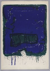 Sam Francis (American, 1923-1994). <em>Affiche Kunsthalle Bern</em>, 1960. Color lithograph, Sheet: 38 x 26 7/8 in. (96.5 x 68.3 cm). Brooklyn Museum, Gift of David Anderson, 1991.284.18. © artist or artist's estate (Photo: Brooklyn Museum, 1991.284.18_PS9.jpg)