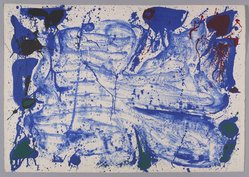 Sam Francis (American, 1923-1994). <em>Coldest Stone</em>, 1960. Color lithograph, Sheet: 24 3/4 x 35 1/2 in. (62.9 x 90.2 cm). Brooklyn Museum, Gift of David Anderson, 1991.284.20. © artist or artist's estate (Photo: Brooklyn Museum, 1991.284.20_PS9.jpg)