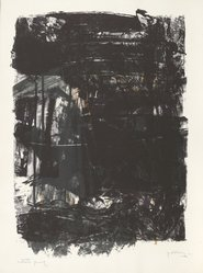 Michael Goldberg (American, 1924-2007). <em>Winter Litho #1</em>, 1961. Color lithograph on Arches paper, sheet: 30 x 22 3/8 in. Brooklyn Museum, Gift of David Anderson, 1991.284.22. © artist or artist's estate (Photo: Brooklyn Museum, 1991.284.22_PS6.jpg)