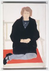 Alex Katz (American, born 1927). <em>Ann</em>, 1956. Oil on masonite, 36 x 24in. (91.4 x 61cm). Brooklyn Museum, Gift of the artist, 1991.42. © artist or artist's estate (Photo: Brooklyn Museum, 1991.42_transpc002.jpg)