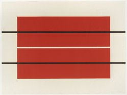 Donald Judd (American, 1928-1994). <em>Untitled #5</em>, 1990. Color woodcut print with hand stencil, 23 5/8 x 31 3/8 in. (60.0 x 79.7 cm). Brooklyn Museum, Robert A. Levinson Fund and Alfred T. White Fund, 1991.62. © artist or artist's estate (Photo: Brooklyn Museum, 1991.62_PS9.jpg)