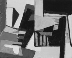 Maurice Estève (French, 1904-2001). <em>Composition</em>, 1954. Oil on canvas, Other: 12 x 10 in. (30.5 x 25.4 cm). Brooklyn Museum, Bequest of William K. Jacobs, Jr., 1992.107.12. © artist or artist's estate (Photo: Brooklyn Museum, 1992.107.12.jpg)