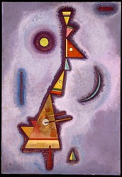 Vasily Kandinsky (Russian, 1866-1944). <em>Stubborn (Hartnäckig)</em>, 1929. Oil on paperboard, 27 3/4 x 19 1/8in. (70.5 x 48.6cm). Brooklyn Museum, Bequest of William K. Jacobs, Jr., 1992.107.19. © artist or artist's estate (Photo: Brooklyn Museum, 1992.107.19_SL1.jpg)