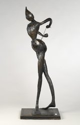 Robert J. Kuhn. <em>Dancer</em>, before 1966. Various metals, unique, 60 x 16 x 17 in. (152.4 x 40.6 x 43.2 cm). Brooklyn Museum, Bequest of William K. Jacobs, Jr., 1992.107.22. © artist or artist's estate (Photo: Brooklyn Museum, 1992.107.22_PS2.jpg)