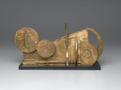 Dorothy Dehner (American, 1908-1994). <em>Landscape</em>, 1967. Bronze (unique), 6 1/2 x 13 x 3 1/4 in. (16.5 x 33 x 8.3 cm). Brooklyn Museum, Bequest of William K. Jacobs, Jr., 1992.107.5. © artist or artist's estate (Photo: Brooklyn Museum, 1992.107.5_PS1.jpg)