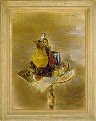 Yasuo Kuniyoshi (American, born Japan, 1889-1953). <em>End of Juanita</em>, 1942. Oil on canvas, 44 1/4 x 34 1/4in. (112.4 x 87cm). Brooklyn Museum, Bequest of Edith and Milton Lowenthal, 1992.11.23. © artist or artist's estate (Photo: Brooklyn Museum, 1992.11.23_SL3.jpg)