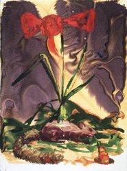 Alexis Rockman (American, born 1962). <em>Squirrel</em>, 1990. Watercolor monotype, 30 x 22 1/4 in. (76.2 x 56.5 cm). Brooklyn Museum, Gift of Rita Fraad in memory of her husband, Daniel J. Fraad, Jr., 1992.118.9. © artist or artist's estate (Photo: Brooklyn Museum, 1992.118.9_transp445.jpg)
