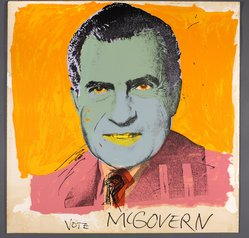 Andy Warhol (American, 1928-1987). <em>Vote McGovern</em>, 1972. Screenprint on paper, 41 11/16 x 41 11/16 in. (105.9 x 105.9 cm). Brooklyn Museum, Gift of Kenneth Walker, 1992.125. © artist or artist's estate (Photo: Brooklyn Museum, 1992.125_PS9.jpg)