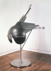R.M. Fischer (American, born 1947). <em>The Betsy</em>, 1988-1989. Blackened steel, brass, stainless steel Brooklyn Museum, Gift of the artist, 1992.176. © artist or artist's estate (Photo: Brooklyn Museum, 1992.176_transpc001.jpg)