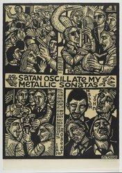 Peter Gourfain (American, born 1934). <em>Mamarojo</em>, 1992. Relief print on thin Japanese paper, sheet: 25 5/8 x 17 15/16 in. (65.1 x 45.6 cm). Brooklyn Museum, Gift of Walter W. Sawyer, 1992.185.4. © artist or artist's estate (Photo: Brooklyn Museum, 1992.185.4_PS4.jpg)